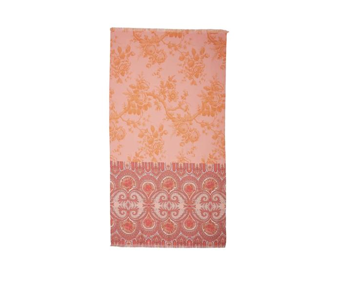 """**Oilily Bright Rose Beach Towel, $74.95, [Zanui](https://www.zanui.com.au/Oilily-Bright-Rose-Beach-Towel-164048.html target=""""_blank"""" rel=""""nofollow"""")**   Break away from the striped mould with the Oilily Bright Rose beach towel. With a delicate floral and boho design in joyful jewel hues, it's Byron Bay style in a towel."""