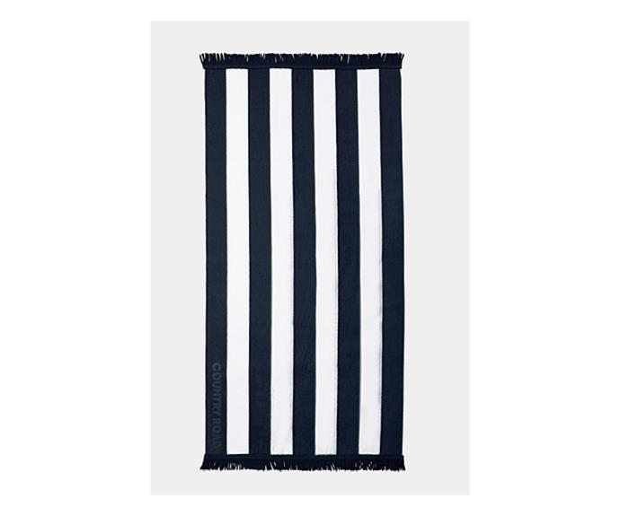 """**Beau Beach Towel in Navy, $69.95, [Country Road](https://www.countryroad.com.au/beau-beach-towel-60243225-448 target=""""_blank"""" rel=""""nofollow"""")**  Country Road are known for their oversized and super soft beach towels, and this year's Beau towel does not disappoint. It's unisex style and classic vibe also make it the perfect gift for a special someone!"""
