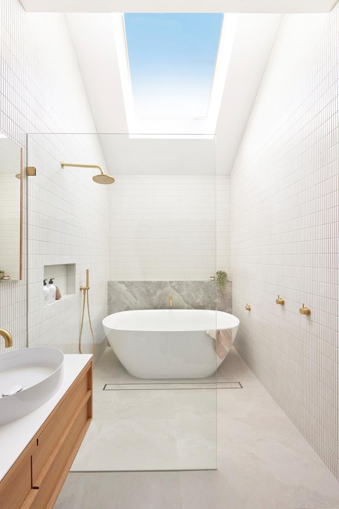 Shaynna loved the luxurious placement of the bath underneath the skylight.