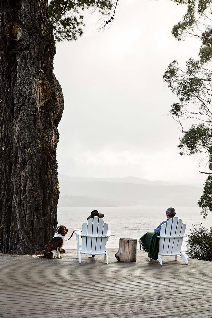 Enjoying the views over the Huon River.