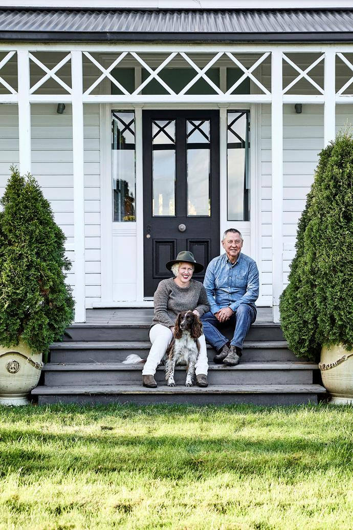 Natalie and Mark with their dog, Toby, the springer spaniel.