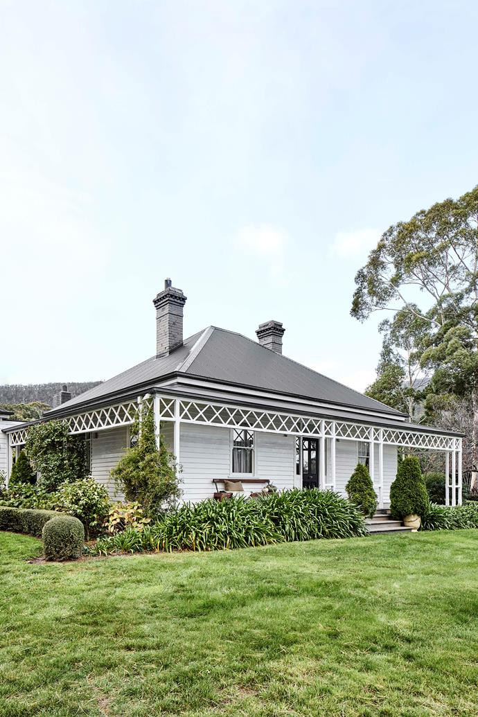 The 1893 Tasmanian oak weatherboard house that Mark and Natalie Donkin now call home.