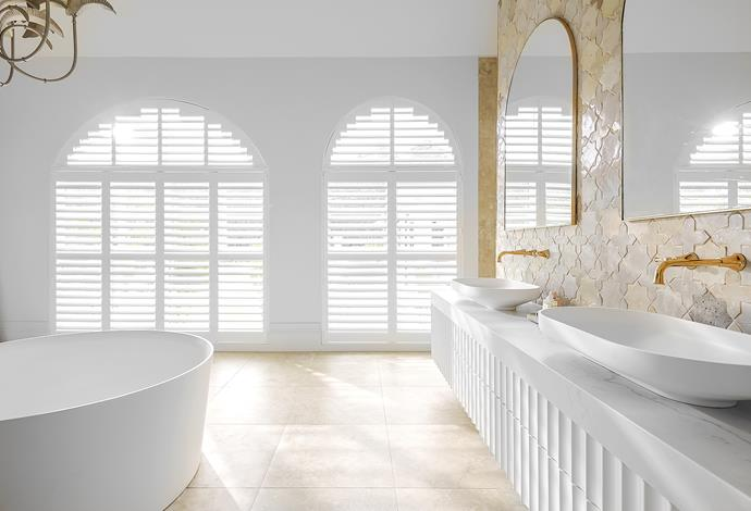 The innovative construction of Luxaflex Window Fashions' PolySatin shutters means air is trapped within cellular pockets inside the blades, creating a layer of energy-saving insulation.