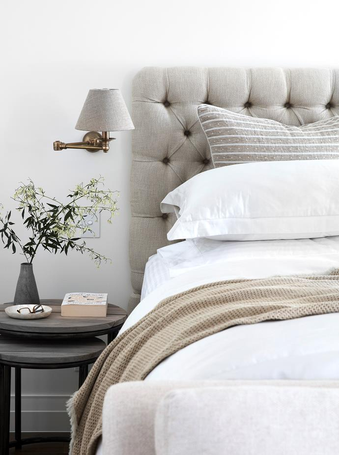 Busatti bedlinen is made from a luxe blend of linen and cotton.