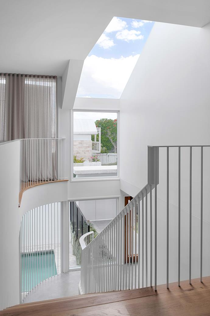 """""""The contrasting lines and curves of the house stand up to its huge open spaces and high ceilings,"""" says Katrina."""