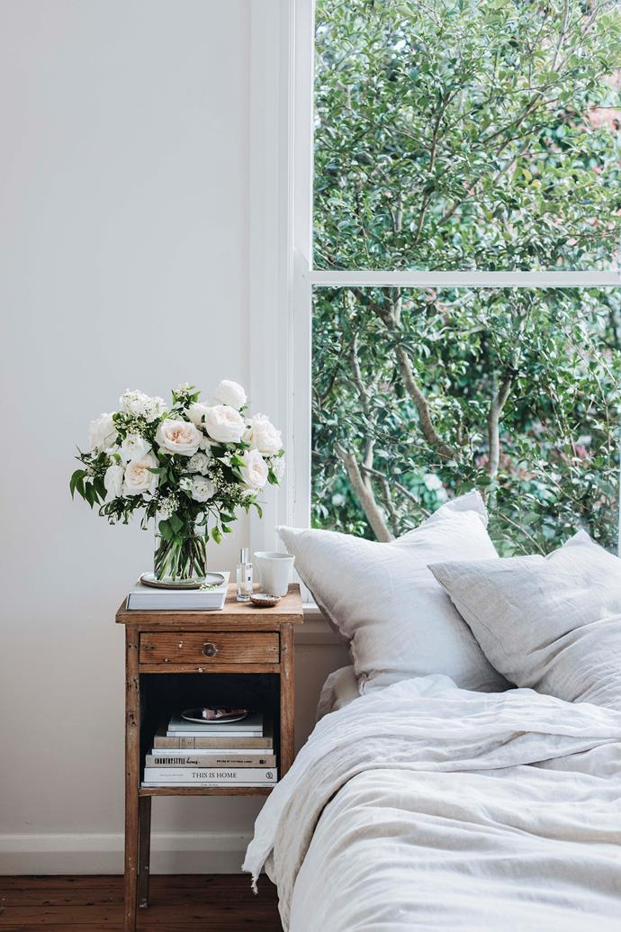 Bringing out lightweight bedding in soft shades will signal the arrival of a new season.