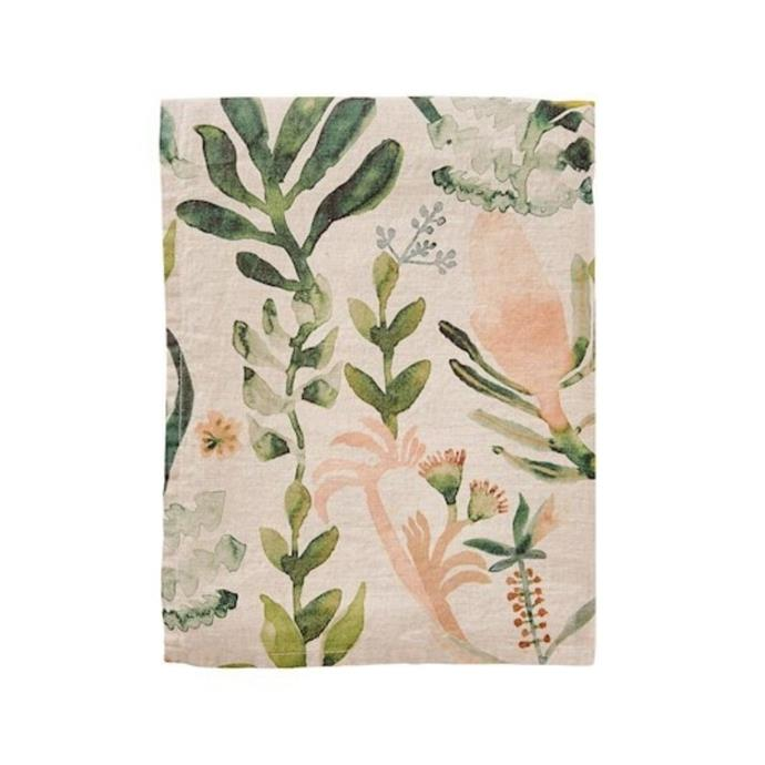 """**Habitation Natural & Green Linen Table Tablecloth, $149.99, [Adairs](https://www.adairs.com.au/homewares/tableware/adairs/habitation-natural--green-linen-table-tablecloth2/