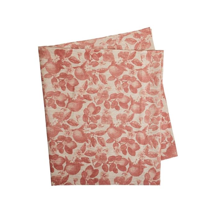 """**Bonnie & Neil Tablecloth in Orange Clay, $245, [Opus](https://opusdesign.com.au/products/bonnie-and-neil-table-cloth-oranges-clay?