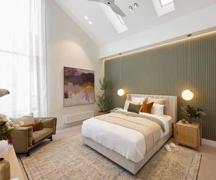 """Neale dropped an """"F bomb"""" when he entered the """"beautifully delivered"""" space, saying, """"To know about scale is one thing, how to fill the space is something else."""" Cushions and bedlinen from [L&M Home.](https://www.lmhome.com.au/