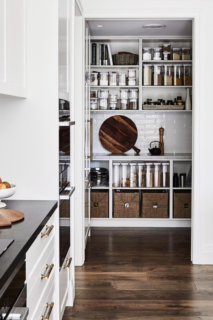 Storing spice jars alphabetically will ensure you can always find the ingredient you're looking for.