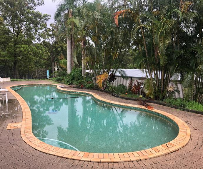 House one is located on a large parcel of land which includes a backyard pool.