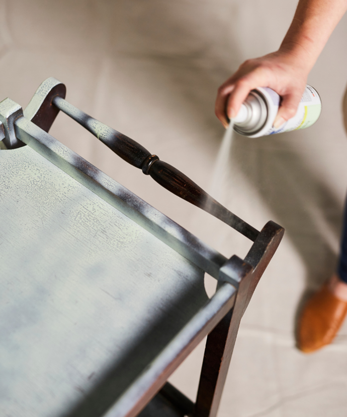 Keep a good distance from the surface while spraying the paint.