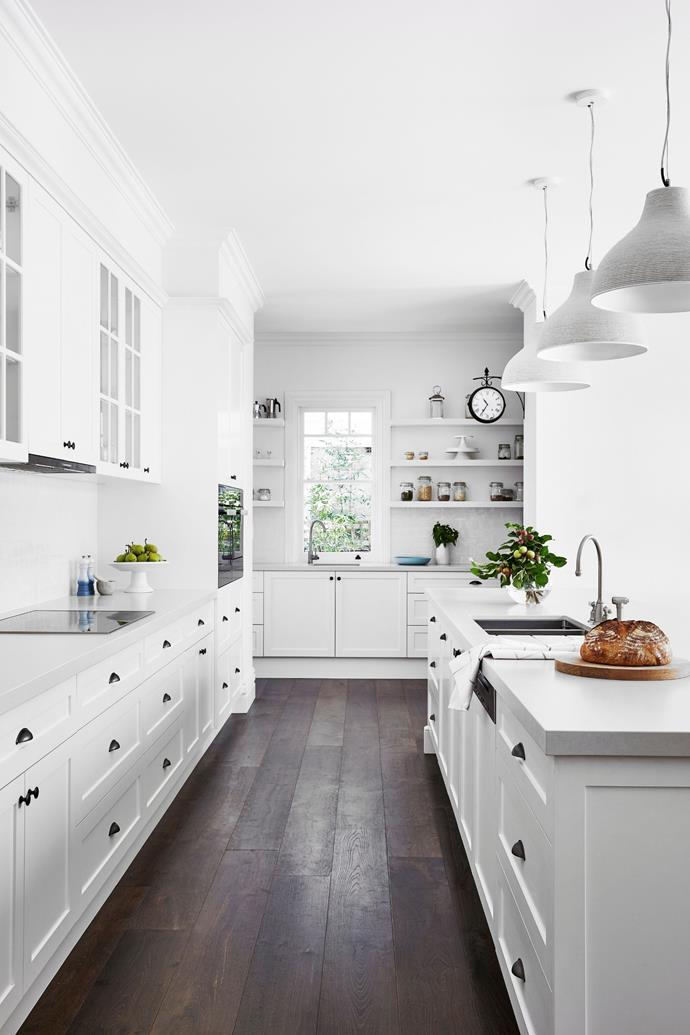 A white kitchen is a classic for a reason.