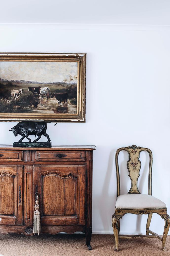 """After missing out on this French sideboard at auction in England, Athol later found it for sale in Sydney. """"I was tickled to bits,"""" he says."""
