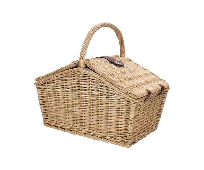 """**Wanderer wicker picnic basket, $139.99, [BCF](https://www.bcf.com.au/p/wanderer-wicker-picnic-basket-4-person/578458.html