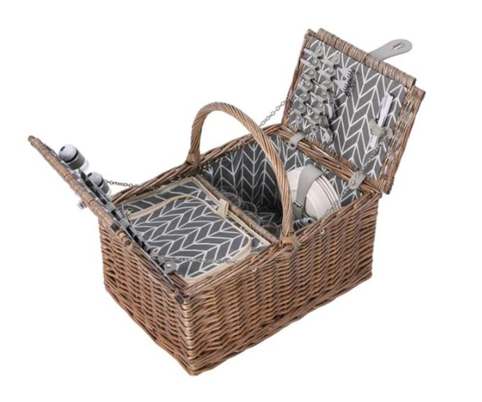 """**Blake picnic basket, $79.99, [Catch](https://www.catch.com.au/product/west-avenue-4-person-blake-picnic-basket-8211331/