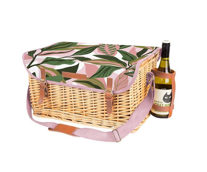 """**4 person blush palm deluxe picnic basket set, $189, [Temple & Webster](https://www.templeandwebster.com.au/4-Person-Blush-Palm-Deluxe-Picnic-Basket-Set-GV0960-GOVB1221.html