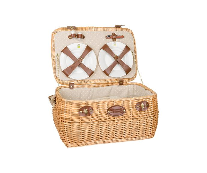 """**Trocadero Picnic Basket, $299, [Amara](https://www.amara.com/au/products/trocadero-picnic-basket-4-person?utm_source=google&utm_medium=cpc&amss=c6g