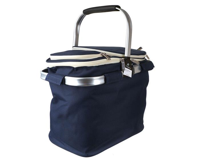 """**Picnic cooler bag with blanket in Navy, $89.95, [Wheel & Barrow](https://wheelandbarrow.com.au/picnic-cooler-bag-with-blanket-navy.html
