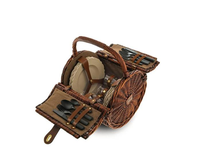 """**En plein air picnic basket, $1140, [Alessi](https://alessiaustralia.com.au/products/table/dressed-en-plein-air-picnic-basket