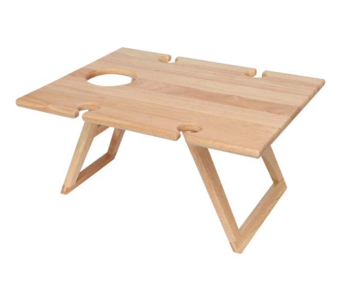 """**Travel picnic table, $54.95, [Zanui](https://www.zanui.com.au/Travel-Picnic-Table-Medium-194794.html