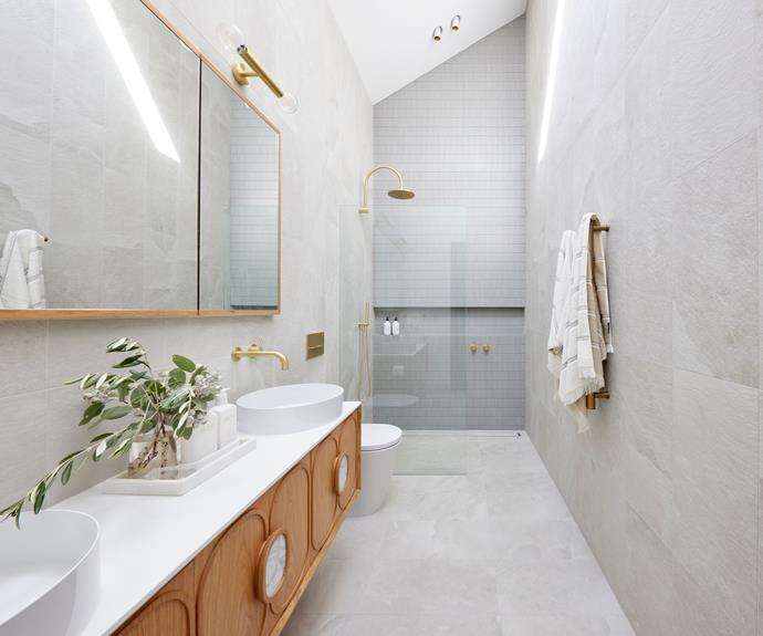 """Brass accents in [tapware](https://www.reece.com.au/product/milli-pure-wall-basin-outlet-200mm-living-225963