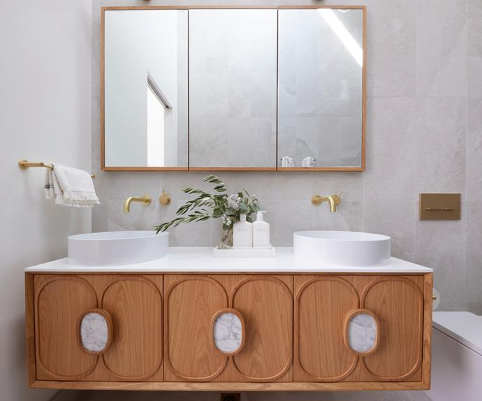 """Judges lusted over the [Zuster handmade vanity](https://www.reece.com.au/product/issy-blossom-ii-1500-x-450mm-vanity-unit-with-2351640