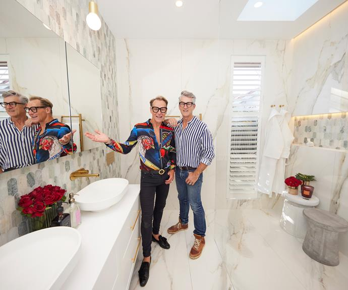 Mitch and Mark were thrilled with their master ensuite and have no plans to change anything.