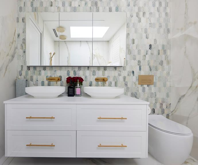 """Judges called the styling beautiful and, """"Really well thought through...like a jewel box of a room."""" [Vanity](https://www.reece.com.au/product/kado-lux-1500mm-all-drawer-wall-hung-vanity-2306174?query=2306174