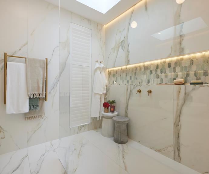 """Judges said the colour palette was superb and praised Mitch and Mark's [tile choices](https://www.beaumont-tiles.com.au/product/tile/1010045