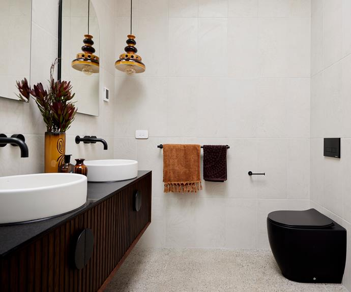 """Tanya's joy in sourcing the vintage light fitting was not reflected in the judges' idea of market appeal. [Zuster vanity](https://www.reece.com.au/product/issy-halo-i-1500mm-x-450mm-x-450mm-vanity-2350311