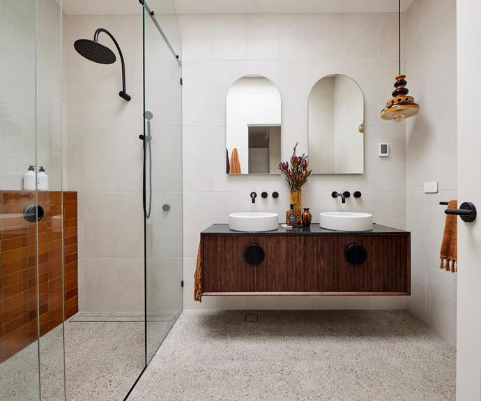 """Neale said, """"There's a feeling of drabness in here which is really strange."""" [Tapware](https://www.reece.com.au/product/milli-pure-hi-rise-shower-250mm-curved-matte-4202245