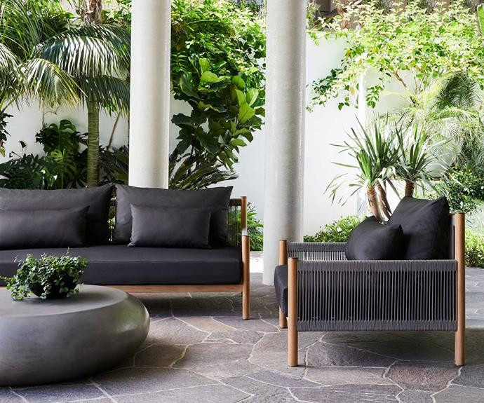 """**Architect Outdoor Sofa, from $3,650, [Coco Republic](https://www.cocorepublic.com.au/architect-outdoor-sofa.html