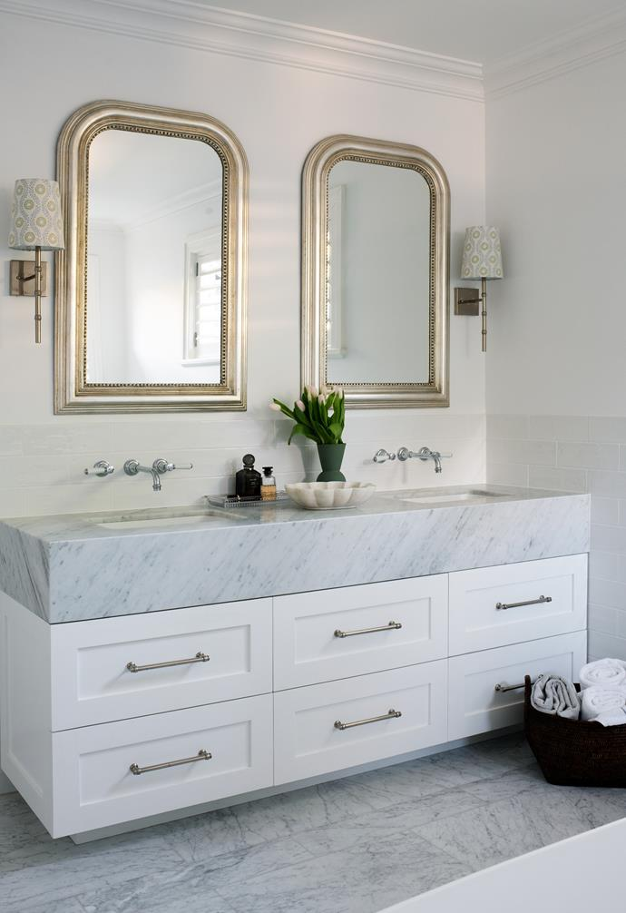 The ensuite features a gorgeous pair of 'McKenzie' mirrors from Home & Clan.