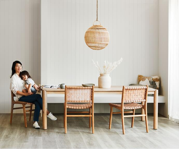 """The polyurethane surface of hybrid boards make easy to clean flooring for pets and families. Also [easy to install](https://www.homestolove.com.au/how-to-install-floating-floorboards-3464 target=""""_blank""""), is warmer and less bruising to very young children."""