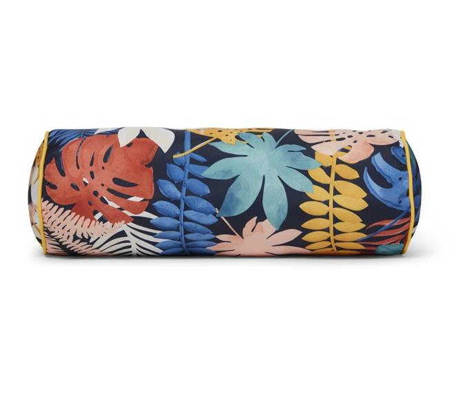 """Pair a new outdoor setting with a comfy set of cushions to match. The vibrant, leafy pattern of the [House & Home outdoor bolster cushion, $12](https://www.bigw.com.au/product/house-home-outdoor-bolster-cushion-lush-tropic/p/150632/ target=""""_blank"""" rel=""""nofollow"""") will instantly brighten the mood of any space."""