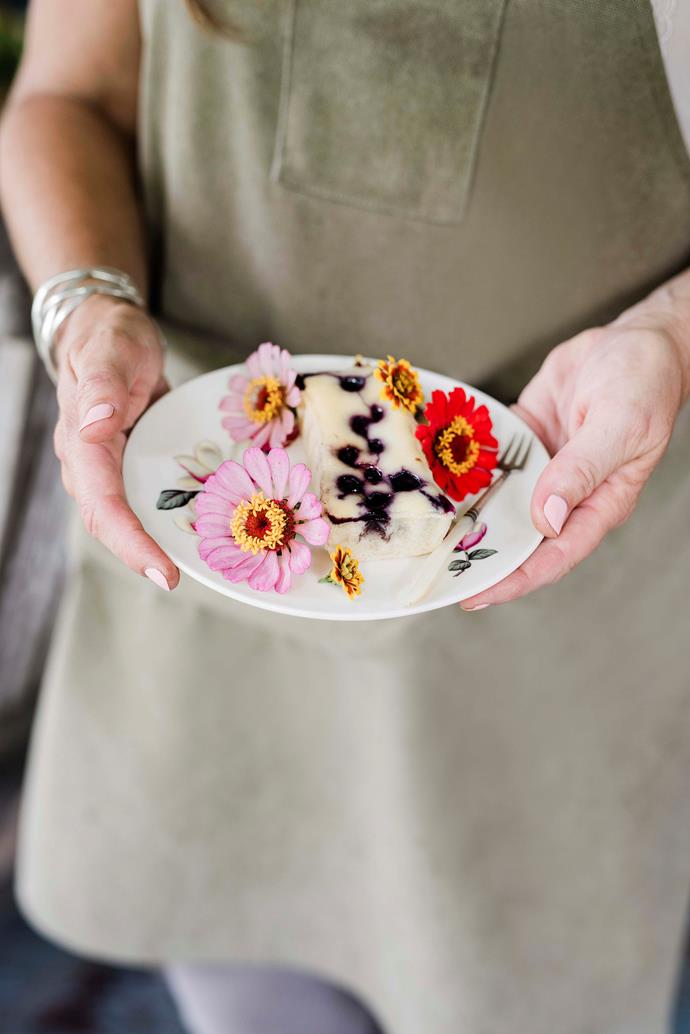 """""""I'm trying to take the garden into the kitchen,"""" says Simone of her edible garnish."""