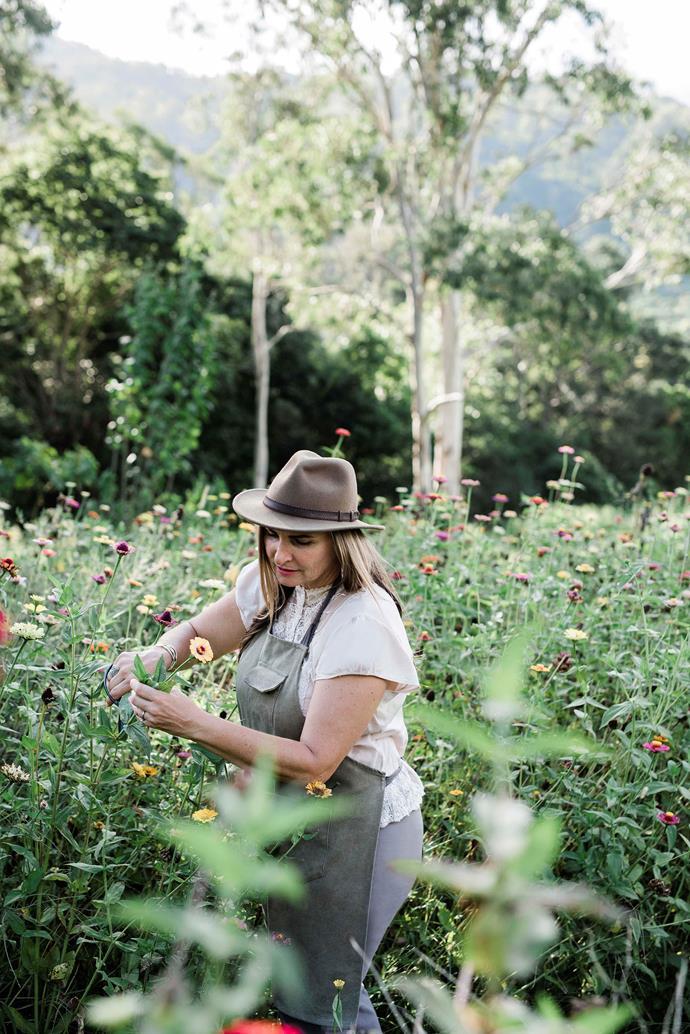 Simone channels her creativity into gardening.