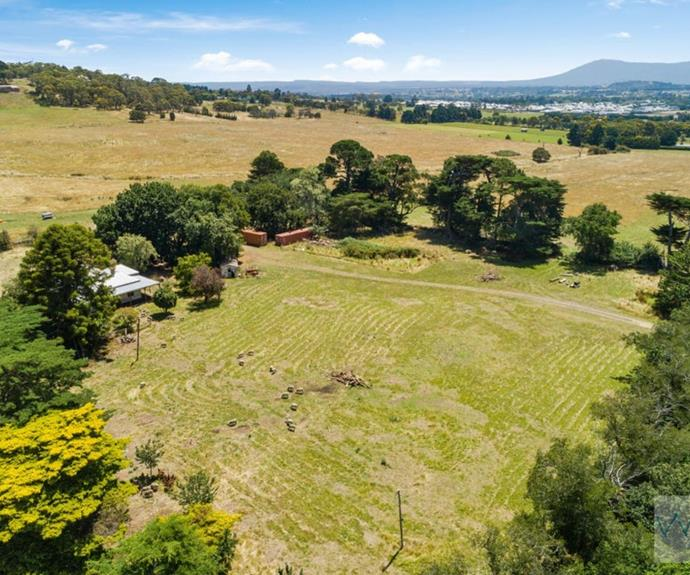 The property in Gisborne, VIC has already been subdivided into seven lots, reports Domain.