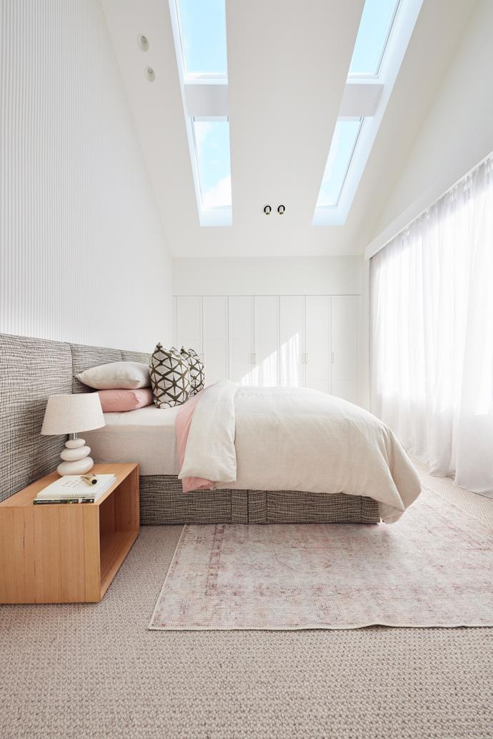 """Changing their plastering team paid off too, with the judges admiring the finish on walls and around doors. [Bedside table](https://www.freedom.com.au/product/24272933 target=""""_blank"""" rel=""""nofollow"""") and lamps, [Freedom](https://www.freedom.com.au/ target=""""_blank"""" rel=""""nofollow""""). Bedhead and cushions, [The Block Shop](https://www.theblockshop.com.au/brand/martini-furniture/ target=""""_blank"""" rel=""""nofollow"""")."""