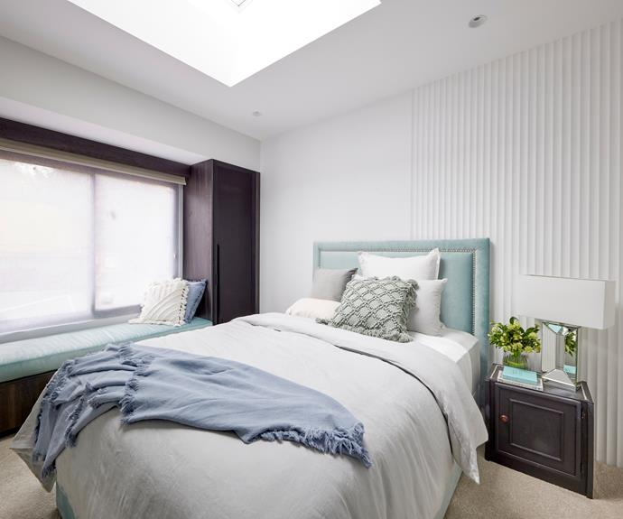 """""""This house still has plenty of untapped potential,"""" said Neale. Linen House bedlinen, [Forty Winks](https://www.fortywinks.com.au/ target=""""_blank"""" rel=""""nofollow""""), Wall lining, [Laminex](https://www.laminex.com.au/ target=""""_blank"""" rel=""""nofollow"""")."""