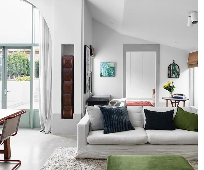 """The [living area](https://www.homestolove.com.au/how-to-create-multipurpose-living-areas-3791