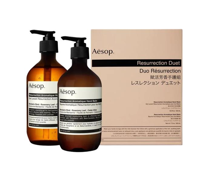 """**[Resurrection Aromatique duet by Aesop, $133](https://www.theiconic.com.au/resurrection-aromatique-duet-2-x-500ml-1178221.html