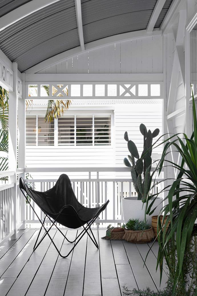 """**VERANDAH** The angles of the butterfly chair from [Clo Studios](https://clostudios.com.au/