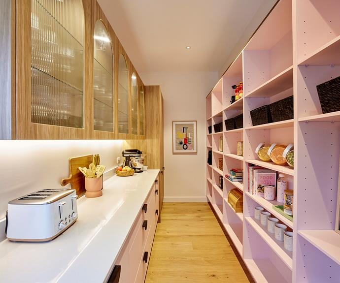 The butler's pantry was praised for its fun aesthetic and wall-to-wall storage.
