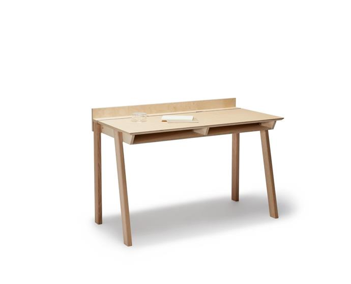 """**'Scrivette' desk, $1,450.00, [Plyroom](https://www.plyroom.com.au/collections/all/products/scrivette-desk
