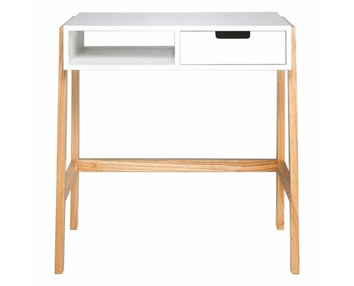 """**'Brock' desk, $299, [Freedom](https://www.freedom.com.au/product/23746367