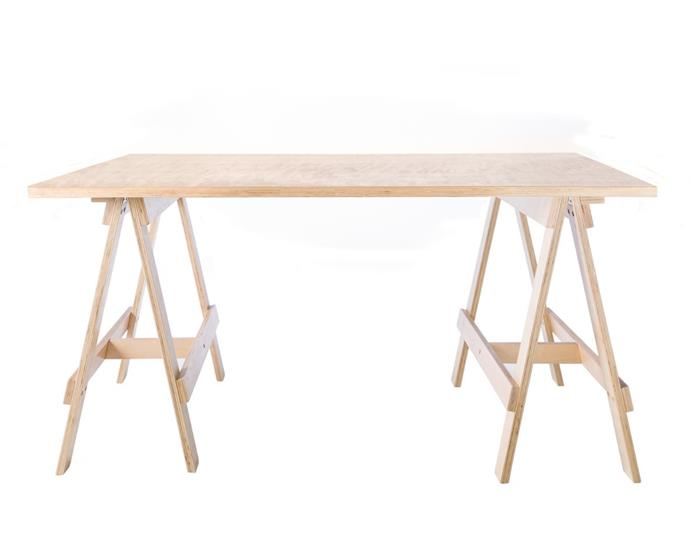 """**'Trestle' desk, $199, [Mocka](https://www.mocka.com.au/large-trestle-desk/