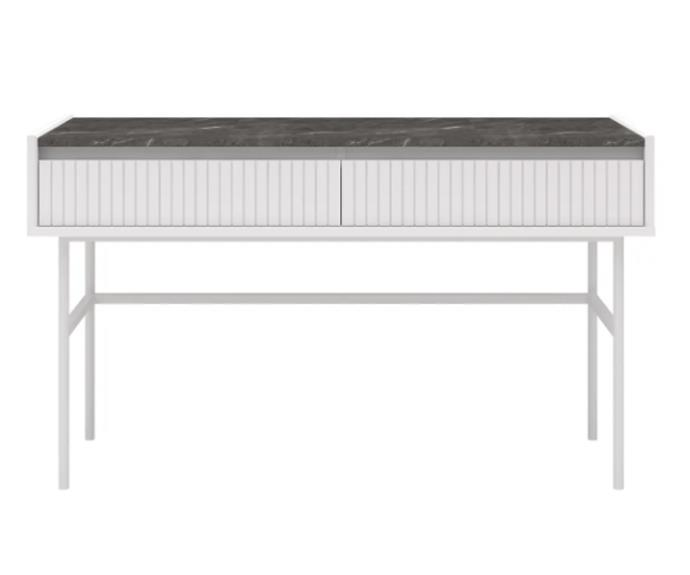 """**'Gemma' desk, $529, [Zanui](https://www.zanui.com.au/Gemma-Desk-188880.html
