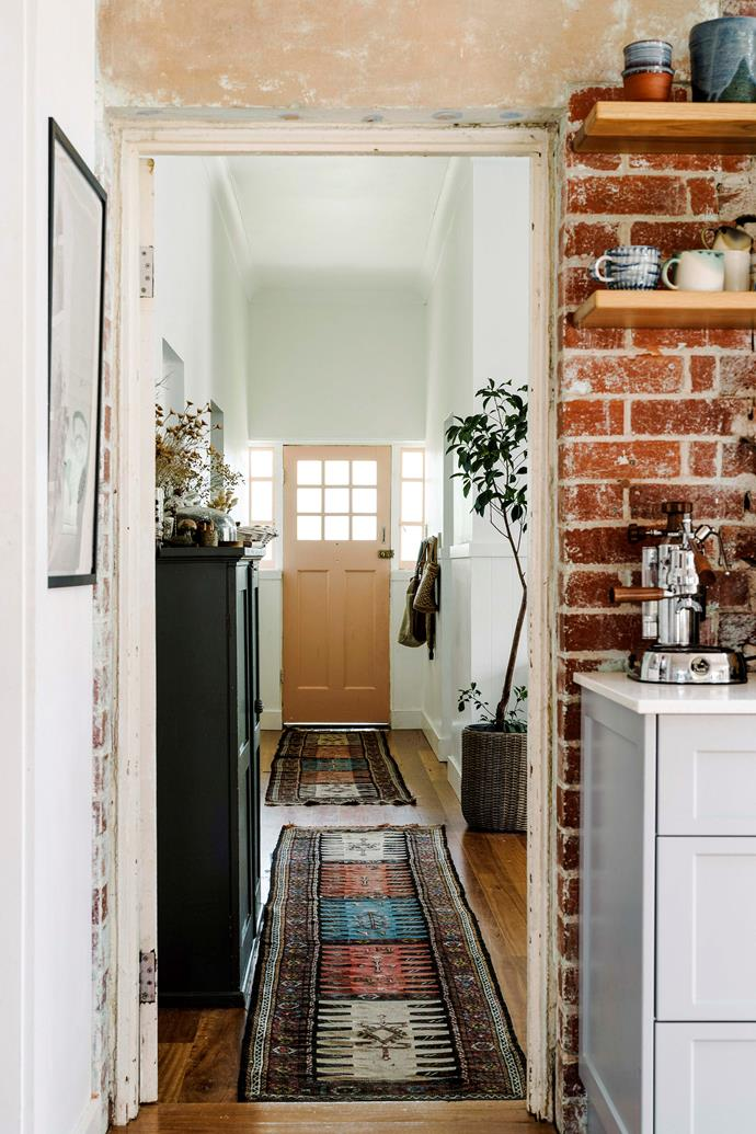 The view of the entrance of the home from the kitchen.